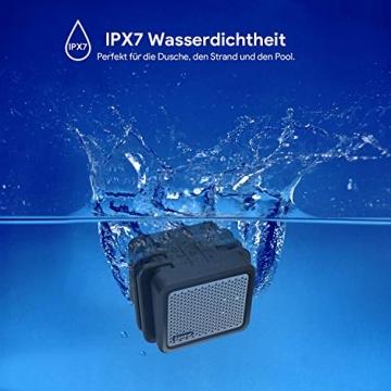 Zamkol Bluetooth Lautsprecher Subbass 25 Watt IPX7 Wasserfest ✪