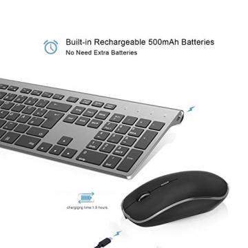 Kabellose Maus und Funktastatur Set mit 500mAh Wiederaufladbarem Akku von JOYACCESS ✪