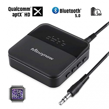 Mbuynow Bluetooth 5.0 Transmitter und Empfänger, 2-in-1 Bluetooth Audio Adapter ✪