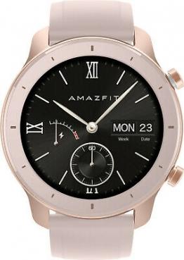 Xiaomi Amazfit  GTR 42 mm Smartwatch mit ganztägiger Herzfrequenz- und Aktivitätserfassung, GPS und extrem Langer Akkulaufzeit (Aluminium Alloy) ✪