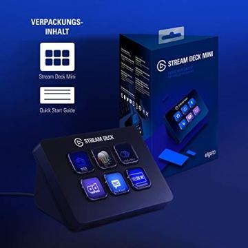 Elgato Stream Deck – Live Content Creation Controller mit 6 personalisierbaren LCD-Tasten ✪
