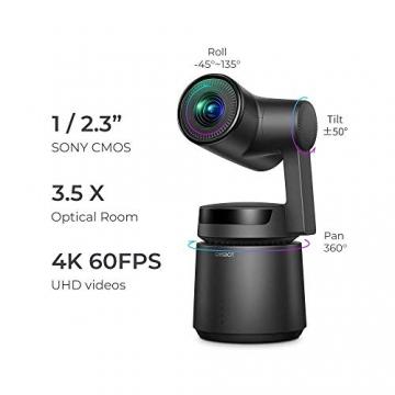 OBSBOT Tail Auto Director 360 4K 60 FPS Ai Tracking Sport Kamera auf Gimabl ✪