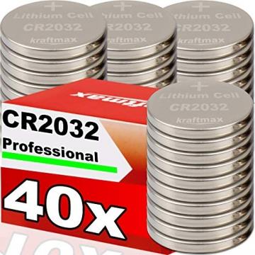 Knopfzellen Batterie (CR2032) - 40er Packvon von Varta ✪