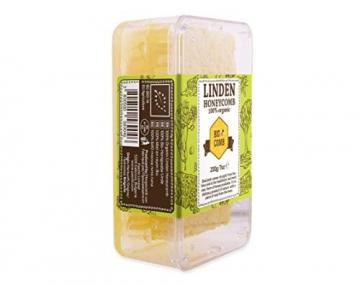 Honigwaben Imker-Bienenhonig direkt aus dem Bienenstock Linden Honeycomb 200g ✪