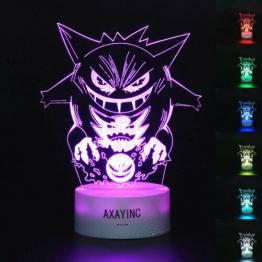 Pokemon 3D LED Tischlampe - Gengar Apollo & Nebulak ✪