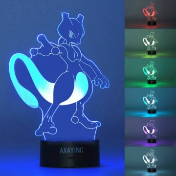 Pokemon 3D LED Tischlampe – Mewtwo ✪