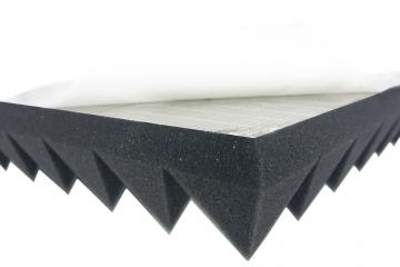 Pyramiden Schaumstoff SELBSTKLEBEND TYP 50x50x5 Akustik Schall Schutz Dämmung ✪
