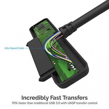 USB 3.0 zu SSD / 2,5-Zoll-SATA-Festplatten Adapter [Optimiert für SSD, Unterstützt UASP SATA III] (EC-SSHD)✪