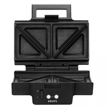 Krups Sandwichmaker FDK451 | Für gegrillte Sandwichtoasts in Dreiecksform | Antihaftbeschichtete Platten (herausnehmbar, spülmaschinengeeignet) | Aufheiz- und Temperaturkontrollleuchte | 850W ✪