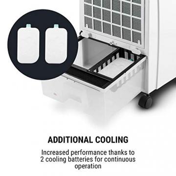 oneConcept CTR-1-4-in-1 Luftkühler, Ventilator, Luftbefeuchter, Luftreiniger, Ionisator, Wassertank: 8 Liter, Luftdurchsatz: 360 m³/h, 65 W, mobil mit Fernbedienung ✪
