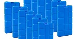 6er Set Kühlakku mit je 200 ml   6 Blaue Kühlelemente für Klimageräte oder Kühlbox ✪