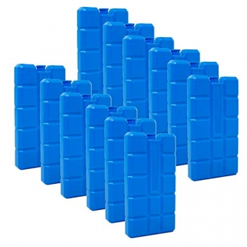 6er Set Kühlakku mit je 200 ml | 6 Blaue Kühlelemente für Klimageräte oder Kühlbox ✪
