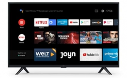 Xiaomi Mi Smart TV 4A 32 Zoll (HD LED Smart TV, Triple Tuner, Android TV 9.0, Fernbedienung mit Mikrofon, Amazon Prime Video und Netflix)✪