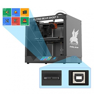 FLYING BEAR Ghost5 3D Drucker mit 3,5 Zoll Touchscreen (255x210x200mm) ✪
