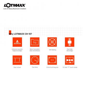 LOTMAXX CH-10 UV-3D-Drucker mit 14 cm Druckgröße & Touchscreen✪