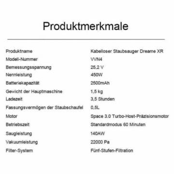 Xiaomi Dreame XR V10R Akku Handstaubsauger + Teppichbürsten ✪