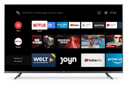 Xiaomi Mi Smart TV 4S 55 Zoll (4K Ultra HD, Triple Tuner, Android TV 9.0, Fernbedienung mit Mikrofon, Amazon Prime Video und Netflix) ✪