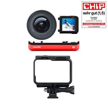 Insta360 ONE R Sport Video Adaptive Action Kamera IPX8 Wasserdichte Sprachsteuerung (ONE R 1-Inch Edition)