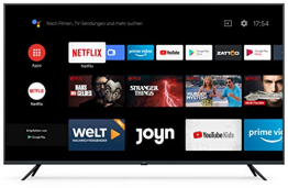 "Xiaomi Mi Smart TV 4S 65"" (4K Ultra HD, Triple Tuner, Android TV 9.0, Fernbedienung mit Mikrofon & Netflix) ✪"