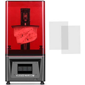 ELEGOO Mars 2 Pro Mono MSLA Resin 3D-Drucker mit 6 Zoll 2K Monochrom LCD (Druckgröße 129 x 80 x 160 mm)✪