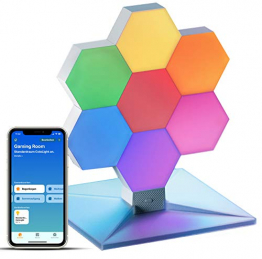 Cololight PLUS - RGB LED-Panels mit App-Steuerung (Apple Homekit, Amazon Alexa, Google Home) (7x Modul, 1x Standfuß) ✪