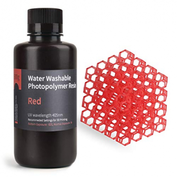 ELEGOO mit Wasser abwaschbares Rapid Resin für 3D Drucker LCD UV-Härtung Resin 405nm Standard Photopolymer ✪