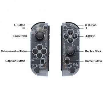 Joy Con 2er-Set für Nintendo Switch mit Armbändern / unterstützt Wecken Funktion ✪