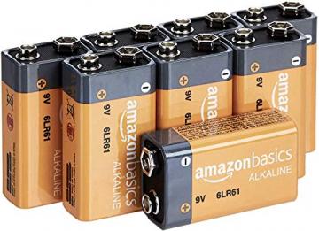 AmazonBasics Alkalibatterien, 9V, 8 Stück ✪