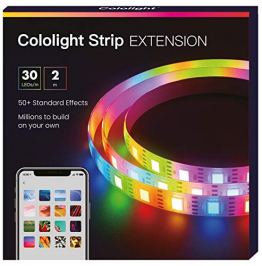 Cololight  LED STRIP Verlängerung 2M – RGB für Homekit, Alexa, Google Home, jede LED andere Farbe (30 LED/m) ✪
