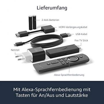 Der neue FireTVStick mit Alexa-Sprachfernbedienung (mit TV-Steuerungstasten)   HD-Streaminggerät   2020 ✪