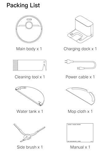 Xiaomi Dreame D9 Staubsauger Roboter, 3000 Pa, LDS-Navigation, Automatische Ladestation ✪