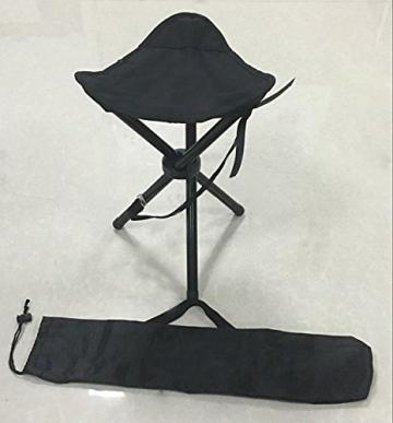 Dreibeinhocker, 3-Bein-Hocker Camping-Stuhl Dreibein-Hocker 40cm Sitzhöhe handliche 550g leicht, faltbar ✪