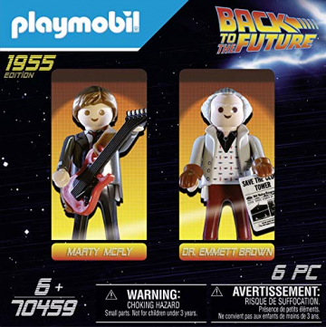 PLAYMOBIL Back to the Future 70459 Marty McFly und Dr. Emmett Brown, Ab 6 Jahren ✪