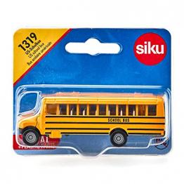 US-Schulbus (SIKU 1319) - Spielzeugauto für Kinder, Metall/Kunststoff, Gelb, Vielseitig einsetzbar ✪