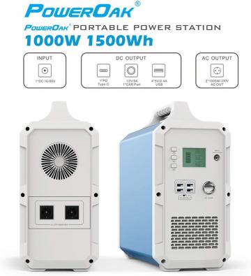 POWEROAK Leistungsstarkes 1500Wh Solar-Kraftwerk ✪