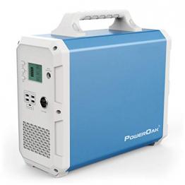 POWEROAK Leistungsstarkes 2400Wh Solar-Kraftwerk - 2x AC-Steckdosen mit reiner Sinuswelle ✪