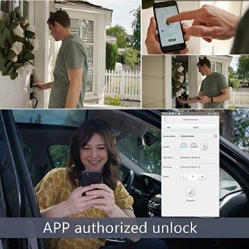 WE.LOCK Passwort und Bluetooth Smart Door Lock mit RFID-Karte - elektronisches Sicherheitsschloss ✪