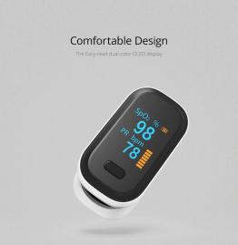 BOXYM oFit-2 Finger-Clamp-Pulsoximeter zum messen der Sauerstoffsättigung ✪