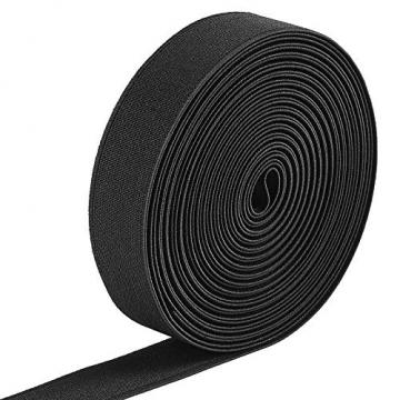 Jalan 6 Meter Gummiband Elastisch Band 25 mm Breit, schwarz ✪