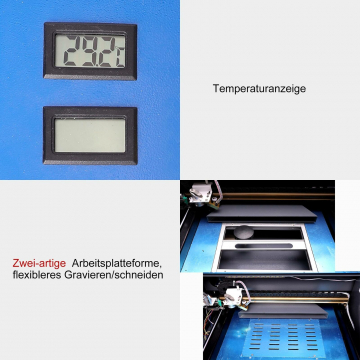 K40 CO2 Laser Cutter & Graviermaschine - 40W Leistung mit Pumpe & Absauganlage ✪