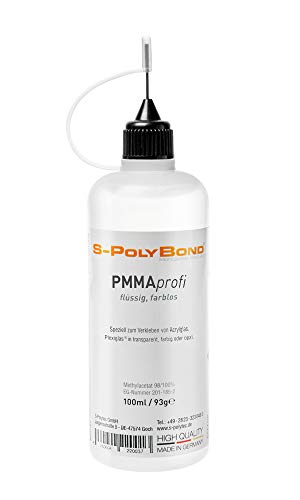 S-PolyBond® Acrylglas, Plexiglas Kleber, Klebstoff, Kaltschweißkleber | 100ml | geeignet auch zum Verkleben von ABS, ASA, SAN, PVC, PS (1, Acrylglas/Plexiglas Kleber) ✪