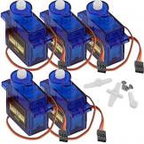5 x SG90 Micro Servo Motor 9G für RC Roboter - kompatibel mit Arduino ✪