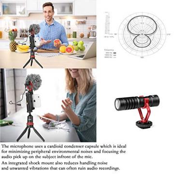 BOYA BY-MM1 - Shotgun Videomikrofon für DSLR- oder Systemkameras & Smartphones ✪
