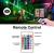 Olafus 2er RGB LED Strahler 60W, Farbig Fluter mit Fernbedienung, Farbwechsel Flutlicht für Innen Außen, Bunt Scheinwerfer mit Timing, IP66 Wasserdicht Außenstrahler, Memoryfunktion für Garten Party ✪