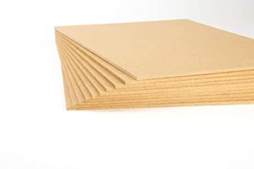 MDF Platte 10 Stück 20 x 30 cm 3 mm für Bastelholz, Modellbau, Laserschnitt, Laserbearbeitung ✪