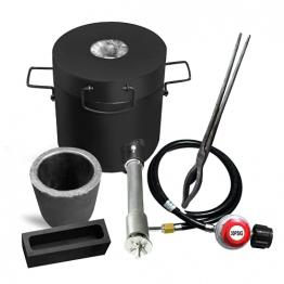 6KG Gas Schmelzofen 1300°C /2372°F, Automatischer Gasofen Kit mit Graphittiegel und Zange (geeignet zum schmelzen von Gold, Silber, Kuper, Aluminium etc.) ✪
