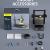 FOKOOS Odin-5 F3 3D-Drucker (235x235x250 mm) - mit Doppelter Z-Achse Carborundum-Glasplattform ✪