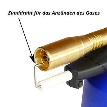 Lötlampe incl. 5 Stechkartuschen Bunsenbrenner Gasbrenner Lötbrenner Piezo-Zündung löten Gas Lötmeister ✪