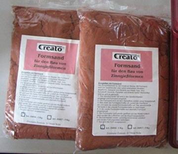 Creato Formsand - Ölgebundener Sand zum Erstellen von Gussformen für Metall (1kg) ✪