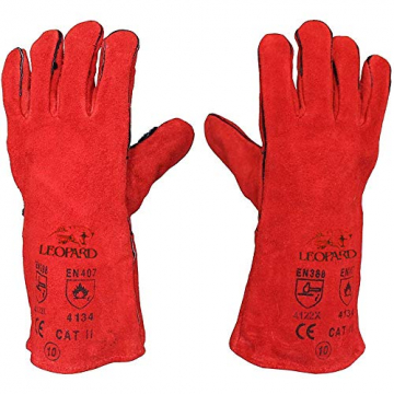 Schweißerhandschuhe, lang, aus Leder, hitzebeständig und gefüttert, MIG ARC Welders / Schweißer ✪
